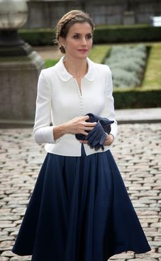 Rainha Letizia de Espanha, durante uma visita de Estado espanhol no Parlamento belga, em 2014/11/12, em Bruxelas, Bélgica. / Queen Letizia of Spain during a Spanish State visit at the Belgian Parliament on 12.11.2014 in Brussel, Belgium.