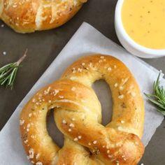 rosemary sea salt pretzels.