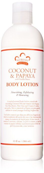 Nubian Heritage Lotion, Coconut and Papaya, 13 Fluid Ounce