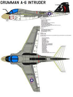 Grumman A-6 Intruder by bagera3005 on DeviantArt
