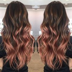 My rose gold balayage more. my rose gold balayage more gold hair colors Balayage Hair Rose, Balayage Hairstyle, Rose Gold Balayage Brunettes, Copper Balayage, Copper Ombre, Cabelo Rose Gold, Gold Hair Colors, Ombré Hair, Curly Hair
