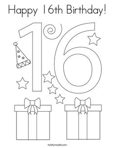 Happy 70th Birthday Coloring Page - Twisty Noodle in 2020 ...