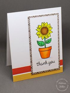 Mel's Card Corner | Sunflower Thank You