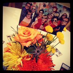 Vibrant Colored Custom Photo Floral For Argyle Themed 30th Birthday Party By San Diego Events Company