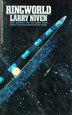 Retro-Futuristic, Science Fiction, Space Future, Dean Ellis's cover for Ringworld