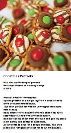 Christmas Pretzels  #party_food #Christmas #pretzels #Hershey #food #tailgating
