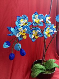 French beaded flower orchid phalaenopsis by UniqueBeadedFlowers