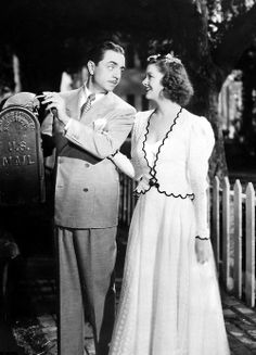 "William Powell and Myrna Loy, ""I Love You Again"" (1940)."