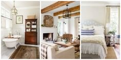 A Rustic Tennessee Home That Does White Right  - CountryLiving.com Curtain panels, velvet, gray & tan color pallette