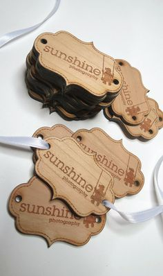 Custom wood tags are a great tool to help showcase a product, company or make a special gift just a bit more special.  These tags are made from 1/8