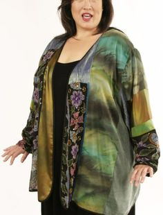 Special Occasion Beaded Jacket Green, Rose, Purple Artwear Size 30/32  SHOP NOW: Unique jackets for women Sizes 14 - 36, mother of the bride, special occasion, artwear, elegant and unique women's clothing,xoPeg #PeggyLutzPlus #PlusSize #style #plussizestyle #plussizeclothing #plussizefashion #womenstyle #womanstyle #womanfashion  #couture