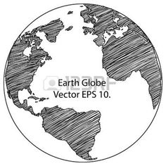 world map outline: World Map Earth Globe Vector line Sketched Up Illustrator, EPS 10 Illustration Globe Outline, World Map Outline, Earth Drawings, Outline Drawings, Earth Sketch, Globe Drawing, Globe Image, Compass Drawing, Globe Tattoos