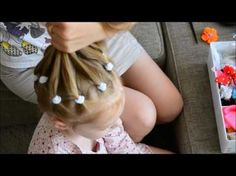 Hair tutorial for Little Girls- Ponytail waterfall - YouTube