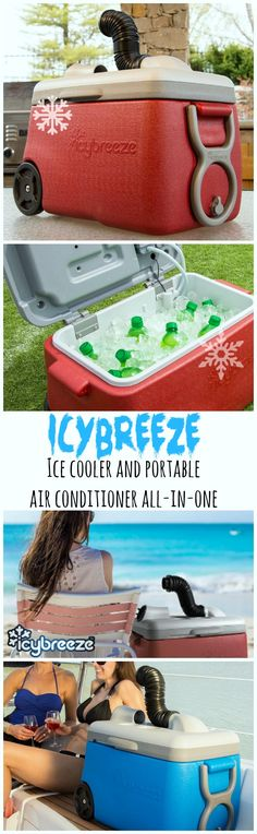 Beat the heat wherever you are with the IcyBreeze portable air conditioner.