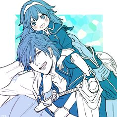 Chrom and his daughter Lucina