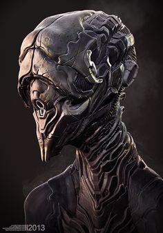 Alien Bust by Rhythem02.deviantart.com on @DeviantArt