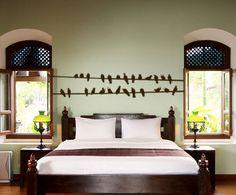 bird, vinyl wall decals, bedroom