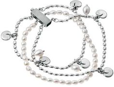 Kalevala Jewelry – The bracelet consists of a pearl string made of white freshwater pearls and two silver chains adorned with pearls and silver leaves. You may modify the appearence of the bracelet by twisting it a bit before fastening it. Stone Jewelry, Silver Jewelry, Jewerly, Pearl Necklace, Helmet, Pearls, My Style, Bracelets, Accessories