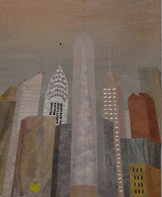 Art Quilts by Mietzi - Gallery of Artwork - Quilts Inspired by Buildings. Katharina Licthman