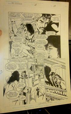 Dr. STRANGE COMIC ART Issue #10 Page 13 Original Art Signed by Jackson Guice