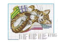 Cat Cross Stitch Pattern                                                                                                                                                                                 More