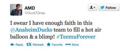 Love this fan unable to contain their Ducks Dedication!