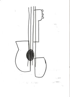 picasso guitar drawings - Google Search