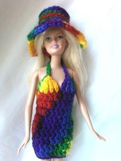 good idea~~~crochet barbie clothes