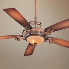 "56"" Minka Aire Napoli Tuscan Patina Ceiling Fan Style # 95536 $419.99"