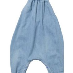 Baobab – Chambray Cutie Playsuit Baby girls 'strappy' baggy onesie made from 100% cotton chambray with fitted bodice, elasticated cuffs and press studs on the inside leg.  Machine washable. Available in lightweight pale chambray.