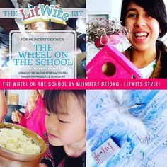 Have straight-from-the-story fun with THE WHEEL ON THE SCHOOL by Meindert DeJong! (As a LitWits member for just $9/month, you could choose this as one of your FREE monthly LitWits Kits.)  #readforfunlearnforlife