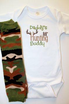 Lil' Hunting Buddy Onesie and Leg Warmer Set  Baby Boy by BabaWear, $22.00