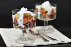 Purple Carrot Cake and Sparkling Apple Jelly Trifle