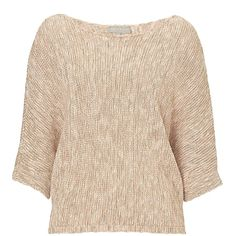 Betty & Co. Batwing Jumper (1.362.655 IDR) ❤ liked on Polyvore featuring tops, sweaters, pink, women, scoop neck top, cotton sweater, multi color sweater, beige sweater and batwing top