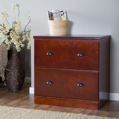 Have To Have It. Z Line 2 Drawer Lateral File Cabinet   Cherry   $239.99  @hayneedle | History Grant | Pinterest | Cherries, Products And File