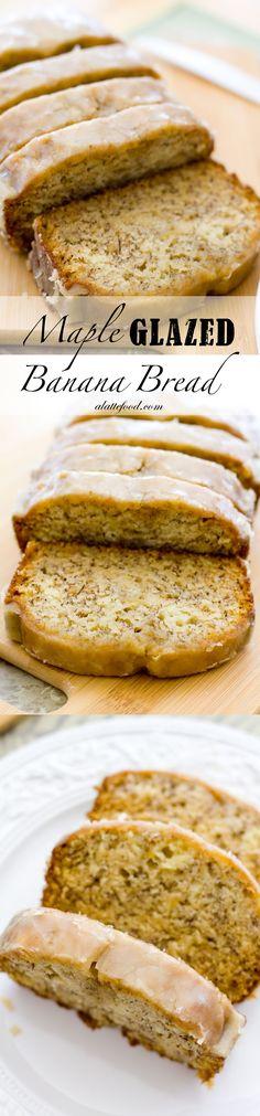 Maple Glazed Banana Bread | This is Mom's classic recipe!