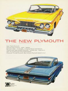 Old cars art autos 46 ideas Classic Cars Usa, American Classic Cars, Vintage Advertisements, Vintage Ads, Vintage Vespa, Automobile Magazine, Plymouth Cars, Car Posters, Car Advertising