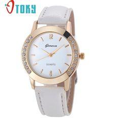 Hot Hothot Sales Women Diamond Analog Leather Quartz Wrist Watch Watches,business,Classic,simple,Girl,round,luxury, jy28