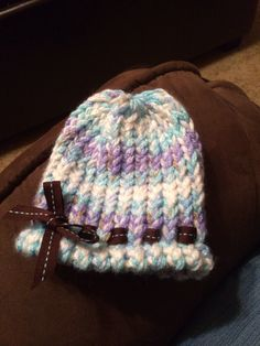 Loom Knit Baby Hat