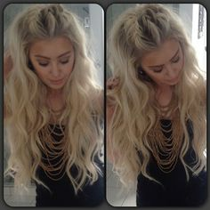 long wavy hair -- blonde