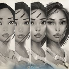Pocahontas steps by avvart on DeviantArt Art Photography Portrait, Portrait Art, Portraits, Film Disney, Disney Art, Black Girl Art, Art Girl, Pocahontas Drawing, Muster Tattoos