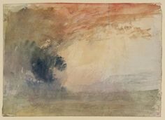 Joseph Mallord William Turner (1775‑1851)  Title  Landscape: Evening  Date c.1820-30  MediumGouache and watercolour on paper