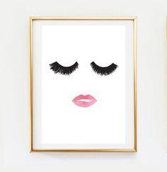 Makeup & Hair Ideas: Makeup Print Wall Decor Home Decor Wall Art Minimalist Poster Fashion Print Glamour Beauty Print Makeup Poster Wall Art Print. Art Mural Fashion, Fashion Prints, Art Pariétal, Makeup Poster, Decoration Ikea, Decorations, Glam Room, Diy Décoration, Trendy Home