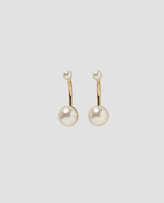 Image 1 of PEARLY EARRINGS from Zara