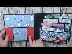 Cards, Tags and More from 1 Paper Pack Super Quick and Easy Scrapbook Cover, Mini Scrapbook Albums, Scrapbook Paper Crafts, Christmas Mini Albums, Christmas Minis, Book Making, Card Making, Teacher Birthday Card, Mini Photo Albums