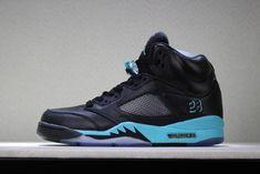 new concept e602a 79f9c New Air Jordan 5 Black Green Men s Basketball Shoes · Nike ...
