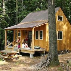 For those who've always wanted to build their own home, the prospect may now be more realistic than ever, thanks to a new wave of kit homes. Tiny House Cabin, Tiny House Living, Tiny House Design, Cabin Homes, Small Cottages, Cabins And Cottages, Small Cabins, Log Cabins, Off Grid