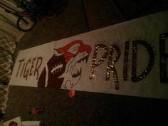 Football banner run through ideas