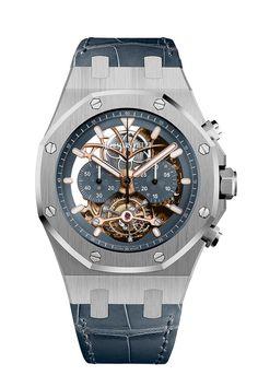 Audemars Piguet - Royal Oak Tourbillon Con el Tourbillon Chronograph Openworked la manufactura ofrece una magistral ejecución del mítico reloj que introdujo el acero en la relojería de lujo. Caja de platino de 44 mm. Precio: 317.000 €