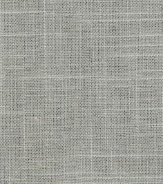 Upholstery Fabric-Robert Allen Linen Slub-Greystone at Joann's for $15.99/yd.  Good for downstairs ottoman?